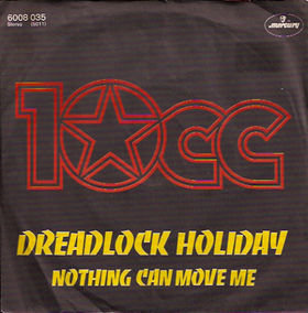 10cc - Dreadlock Holiday piano sheet music