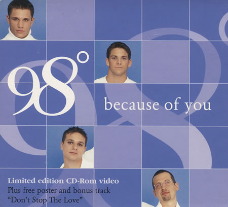 98 Degrees - Because of You piano sheet music