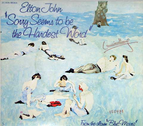 Elton John - Sorry Seems to Be the Hardest Word piano sheet music