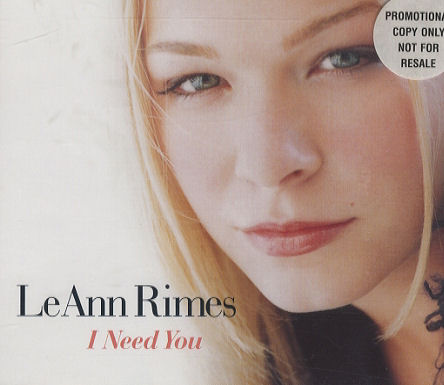 LeAnn Rimes - I Need You piano sheet music