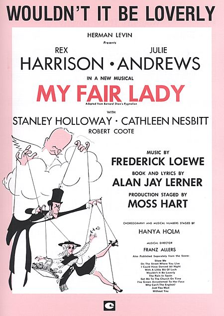My Fair Lady - Wouldn't It Be Loverly piano sheet music