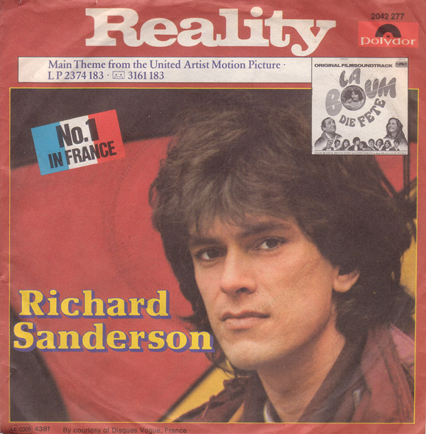 Richard Sanderson - Reality (La Boum soundtrack) piano sheet music