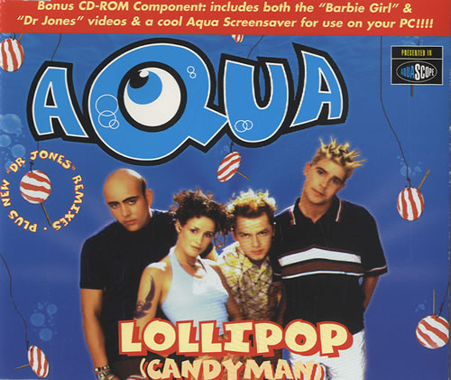 Aqua - Lollipop (Candyman) piano sheet music