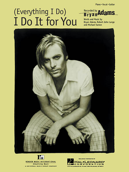 Bryan Adams - (Everything I Do) I Do It for You piano sheet music