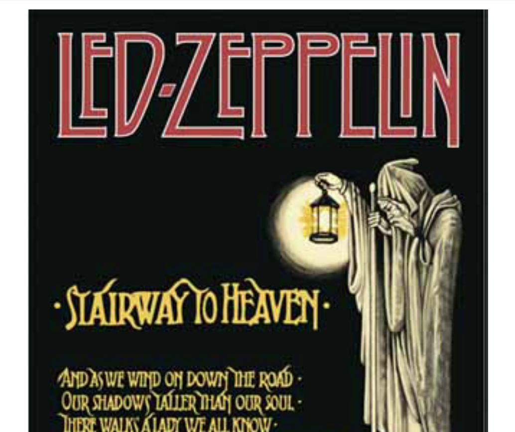 Led Zeppelin - Stairway to Heaven piano sheet music