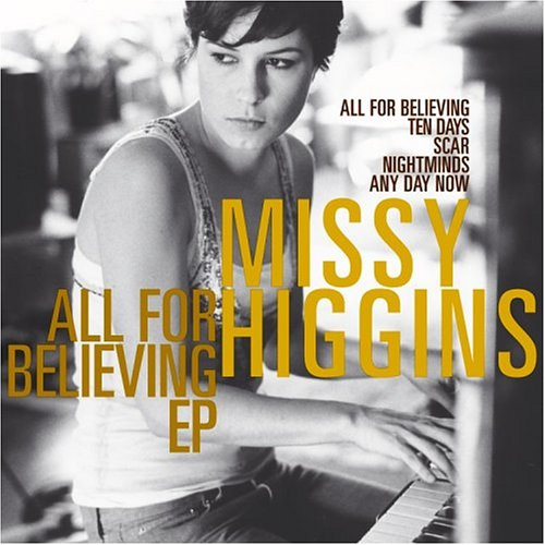 Missy Higgins - All for Believing piano sheet music