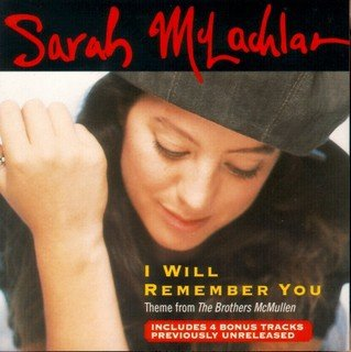 Sarah McLachlan - I Will Remember You piano sheet music